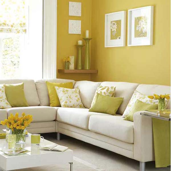 All updated design and home furniture fullhouse decoration Yellow living room accessories